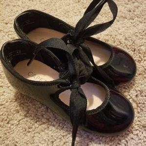 Little Girls Capezio tap shoes